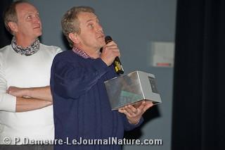 Prix spécial du Jury - Philippe Toussaint/Courant d'air - remis par Henri Ausloos (Président du Jury)