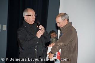 Grand Prix du Festival - Eric Dragesco/Hermine en pleine course - remis par Bernard Thomas (Canon)